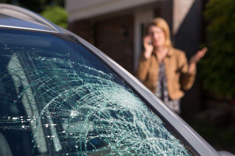 cracked windshield